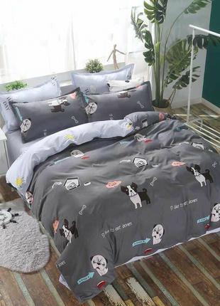 Комплект  постельного  белья «Мопсы»