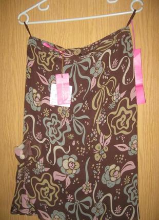 Новая юбка  44 шелк 100% оригинал