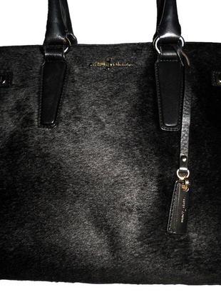 Стильная большая сумка натуральная кожа + натуральный мех jasp...