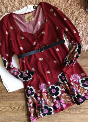 Тёплое платье-мини{2xl}