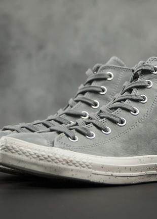 Высокие кожаные кеды Конверсы,Converse, 41.5 (26.5), Chuck Taylor