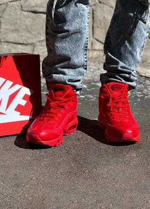 Кросівки nike air max sneakerboot 95 red кроссовки