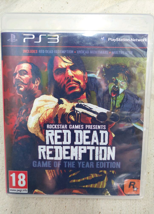 Игра Red Dead Redemption для PS3 Playstation 3 диск