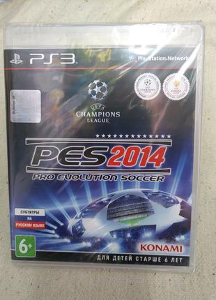 Игра Pro Evolution Soccer PES 2014 новый для PS3 Playstation 3