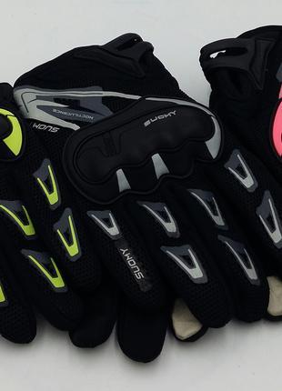 Перчатки вело/мото с защитой Suomy
