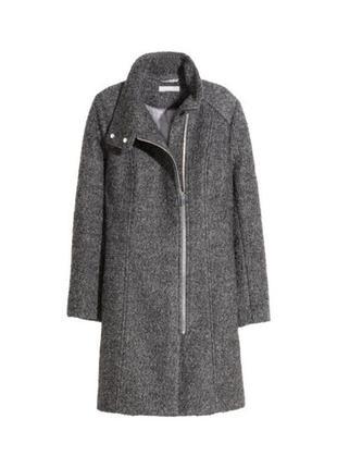 Полушерстяное пальто на молнии h&m