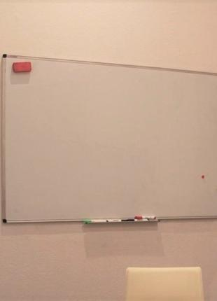 Доска магнитно-маркерная БУ, Вайтборд (whiteboard) 100x150 см