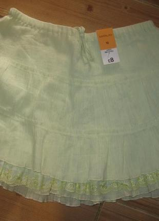 """Новая юбка жатка """"papaya"""" р. 44 коттон 100% пояс-резинка"""
