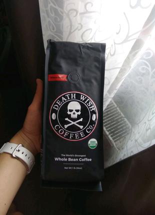 Кава Death Wish Coffee 1 lb. 453 грама в зернах