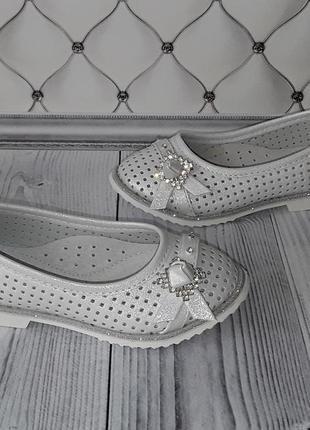 Нарядные белые туфли, туфли девочке