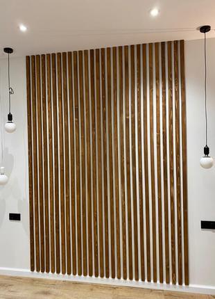 Декоративные деревянные рейки на стену, потолок, перегородки