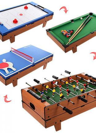 Детская настольная игра 4в1 HG207-4,футбол,хоккей,бильярд,теннис