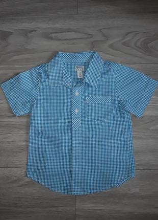 Клетчастая рубашка old navy на 3 года