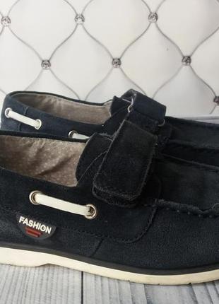 Замшевые туфли 32р, мокасины 32р