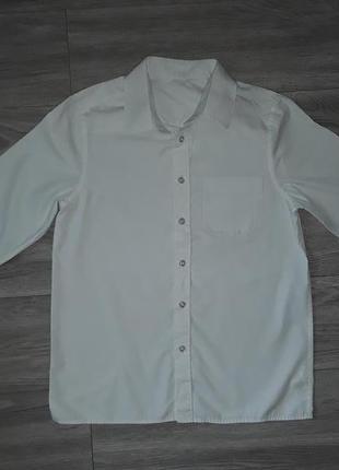 Белая рубашка мальчику, белая рубашка на подростка