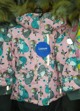 Зимний термо костюм комбинезон lassye для девочки