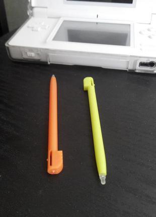 Стилус 2шт Nintendo DS Lite DSi Желтый +оранж Stylus (old 3ds xl)