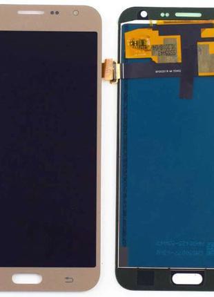 Дисплей (LCD) Samsung J700 Galaxy J7 с сенсором золотой OLED