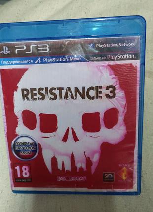 Игра Resistance 3 PS3 Playstation 3 диск