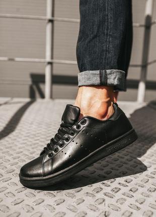 Adidas stan smith black кроссовки женские адидас