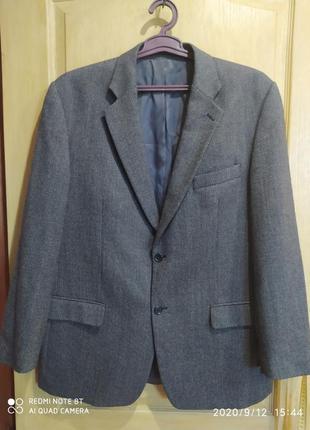 Мужской пиджак натуральная шерсть100%