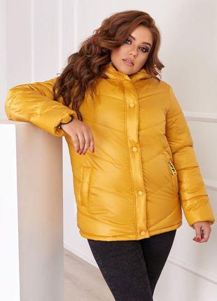 Осенняя куртка на синтепоне большие размеры