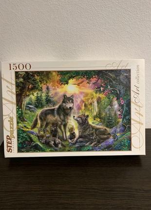 Пазлы 1500 элементов Волки