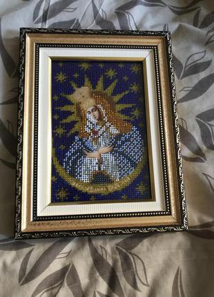 Икона Остробрамская Пресвятая Богородица Hand Made