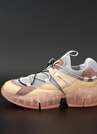 Jimmy choo diamond trail pink кроссовки женские