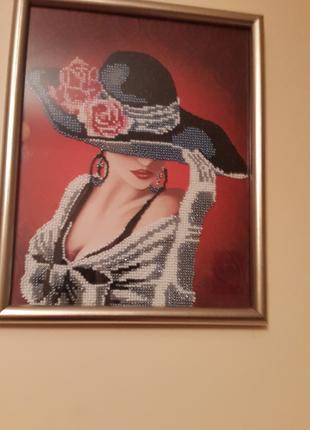 Картина в рамке со стеклом