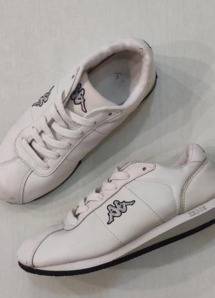 Kappa белые кожаные кроссовки