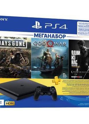 Игровая консоль SONY PlayStation 4 1ТВ в комплекте с 3 играми ...