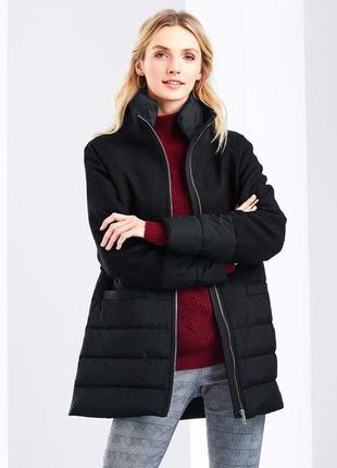 Стильное, теплое пальто-пуховик , евро зима (40% шерсть ) от t...