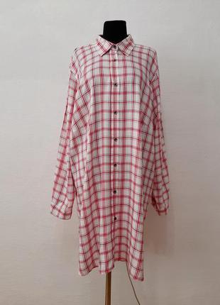 Стильная модная рубаха -платье в клетку суперботального большо...