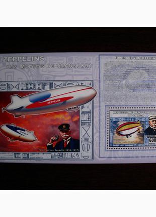 Красивые марки транспорт Дирижабли