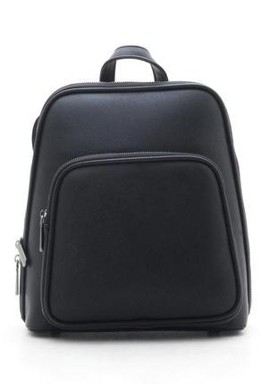 Базовый классический повседневный городской черный рюкзак ash2100