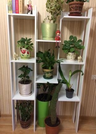 Полка-этажерка для цветов, книг, статуэток
