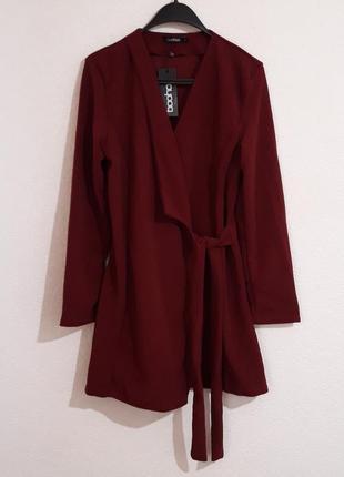 Кардиган пиджак boohoo с завязками
