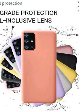 Чехол Silicone case на Samsung Galaxy A51 A50 A71 A70 S10+