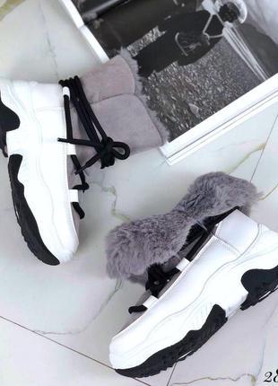 ❤ женские серые зимние угги сапоги луноходы ботинки  ❤