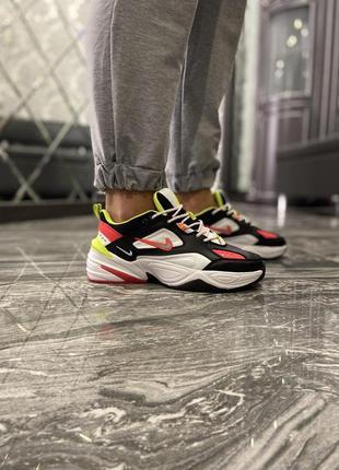 Nike m2k tekno black white red