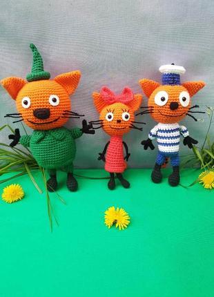 М'ягкі іграшки три кота