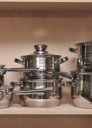 Набор Кухонной Посуды 12в1 Royalty Line RL-1231 4 кастрюли, сотей