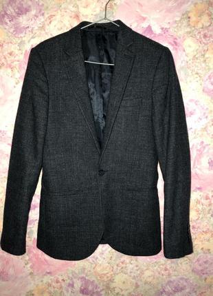 Мужской пиджак жакет блейзер шерстяной