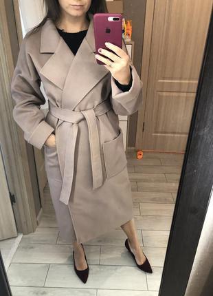 Кашемировое осенне пальто