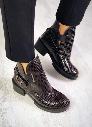 Осень натуральная кожа люксовые ботинки на удобном каблуке под...