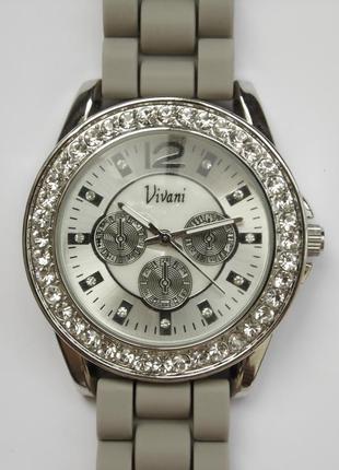 Vivani by accutime часы из сша с мягким ремешком мех singapore...