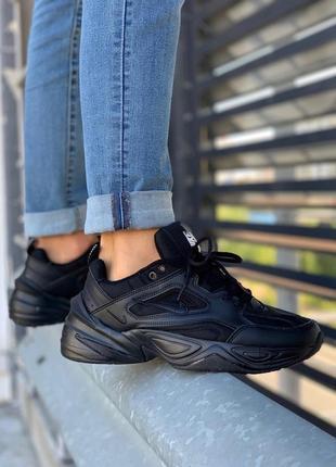 Мужские черные кроссовки nike m2k tekno