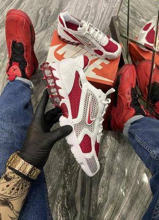 Nike air zoom spiridon cage 2 stussy white red