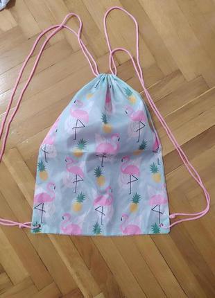 Рюкзак для сменки фламинго